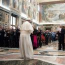 Papa Francesco incontra la stampa e l'editoria italiana