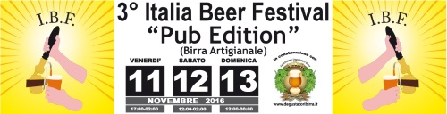Italia Beer Festival - 11,12,13 novembre la terza edizione Pub Edition