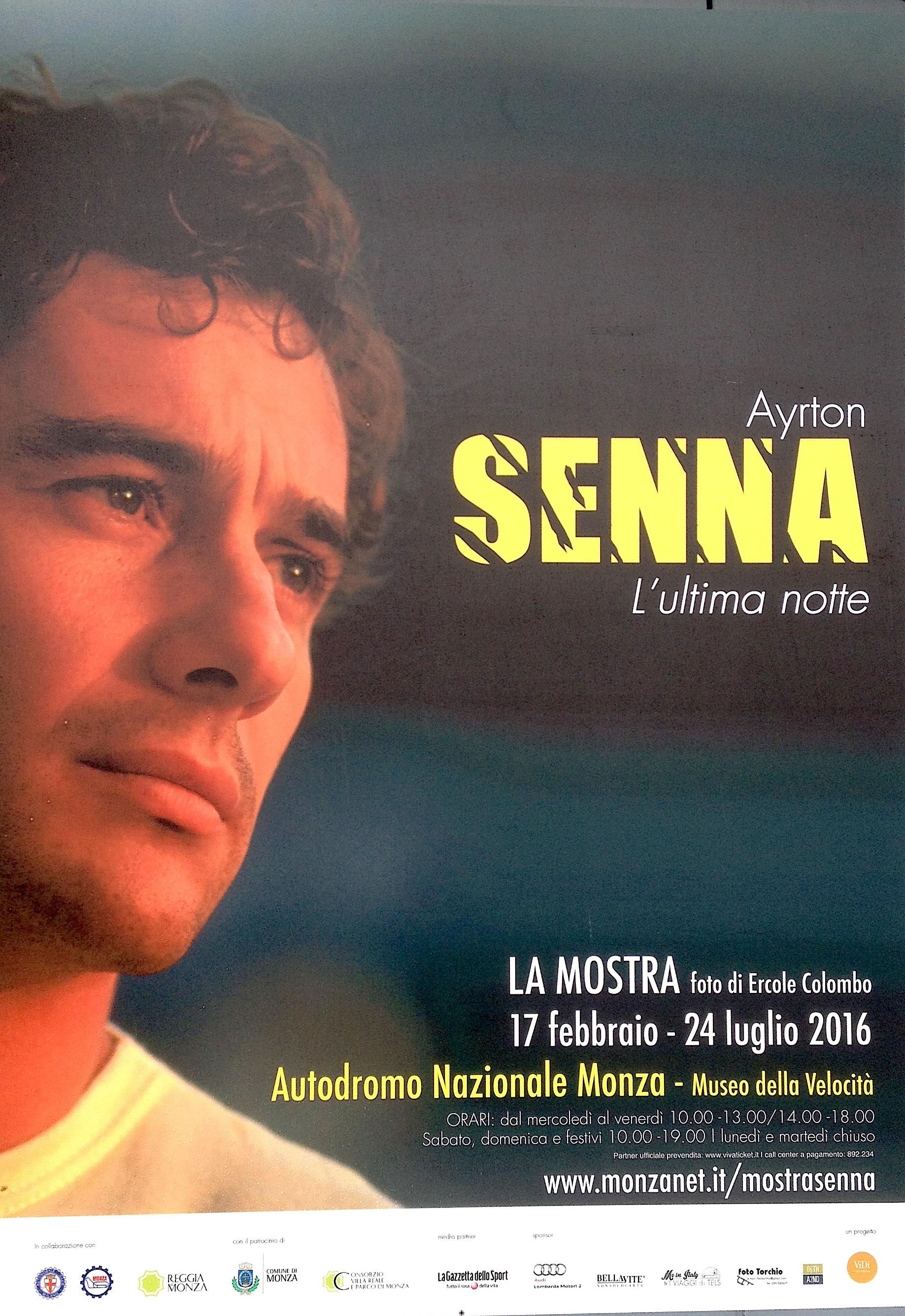 L'Autodromo di Monza ricorda l'indimenticabile pilota di F.1 Ayrton Senna con una mostra