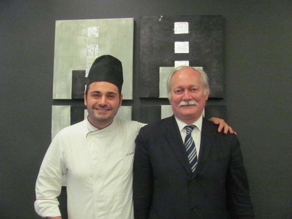 Lo chef Cuomo con il restaurant manager Crivena