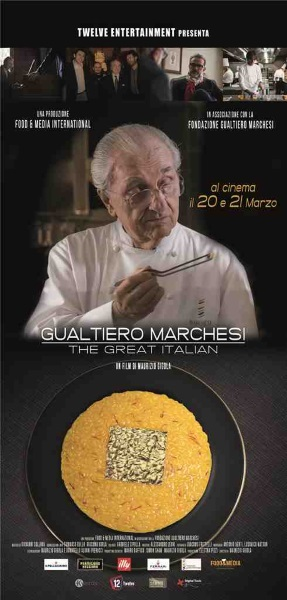 "Quattro eccellenze del Made in Italy celebrano con un documentario Gualtiero Marchesi ""The Great Italian"""