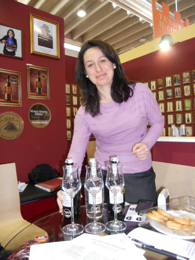 Priscilla Occhipinti e le sue grappe
