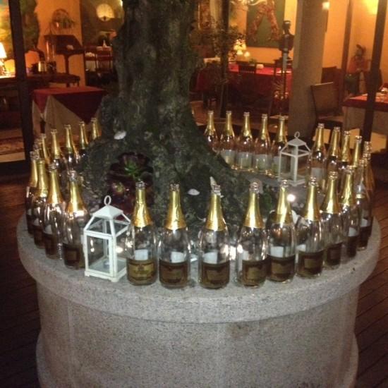 Allestimento champagne