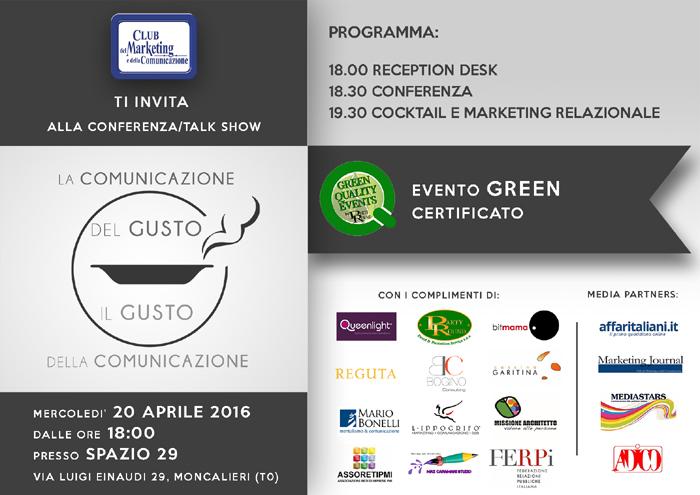 """Conferenza/talk show - """"La Comunicazione del Gusto, il Gusto della Comunicazione"""""""