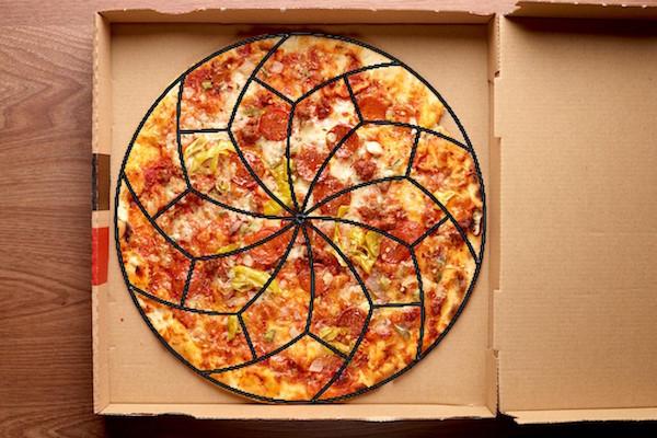 tagliare la pizza 2