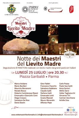 Parma, città creativa per la gastronomia Unesco, abbraccia il 25 luglio i Maestri del Lievito Madre