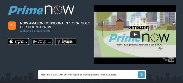 Con l'app Amazon Prime Now si acquistano 30 tipologie di frutta e verdura