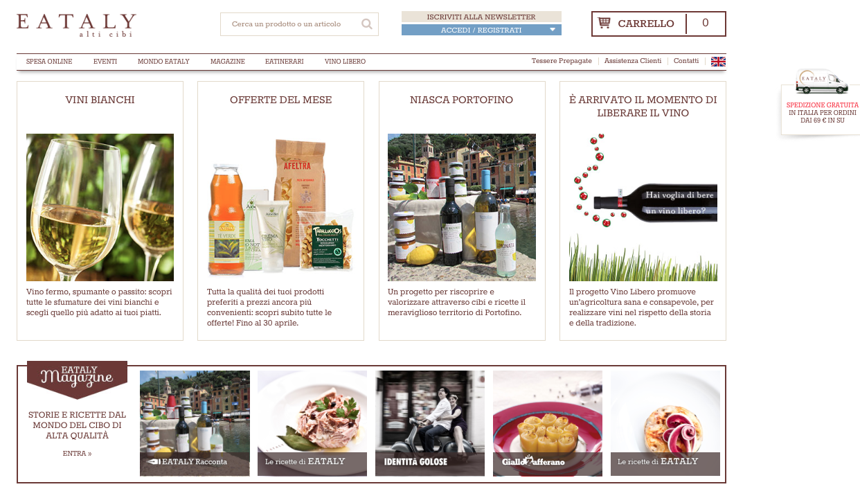 .000 prodotti scelti tra le eccellenze dell'enogastronomia Made in Italy: così Eataly Net, la società che gestisce l'e-commerce di Eataly, ha già conquistato il mercato americano online