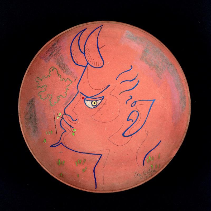 MUVIT - Jean Cocteau, Piatto con satiro, 1959