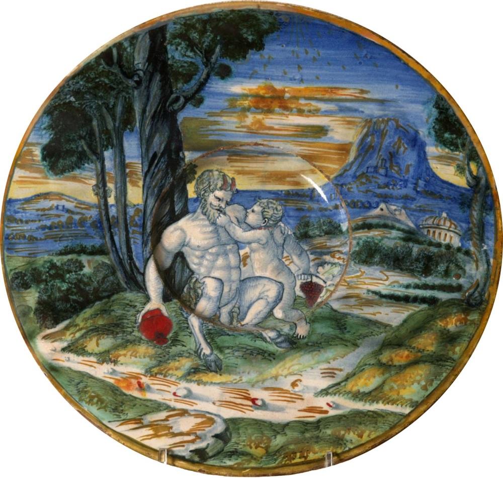 MUVIT - Mastro Giorgio, Infanzia di Bacco, Gubbio, 1528