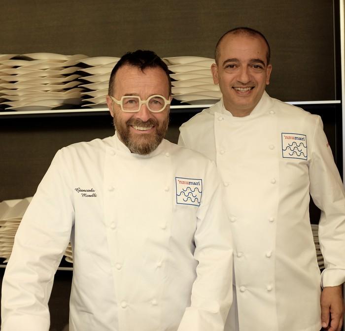 Chef Pino Cuttaia e Giancarlo Morelli