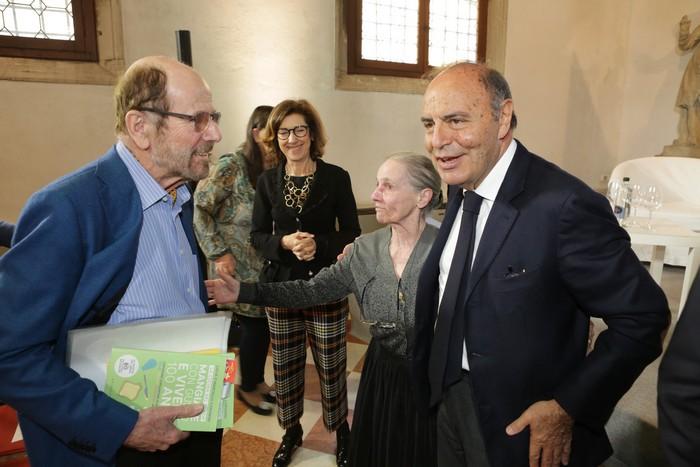 Marcello Coronini e Bruno Vespa