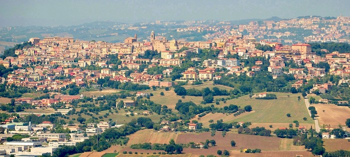 panoramica del comune di Castelfidardo