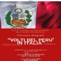Volti del Perù in Italia