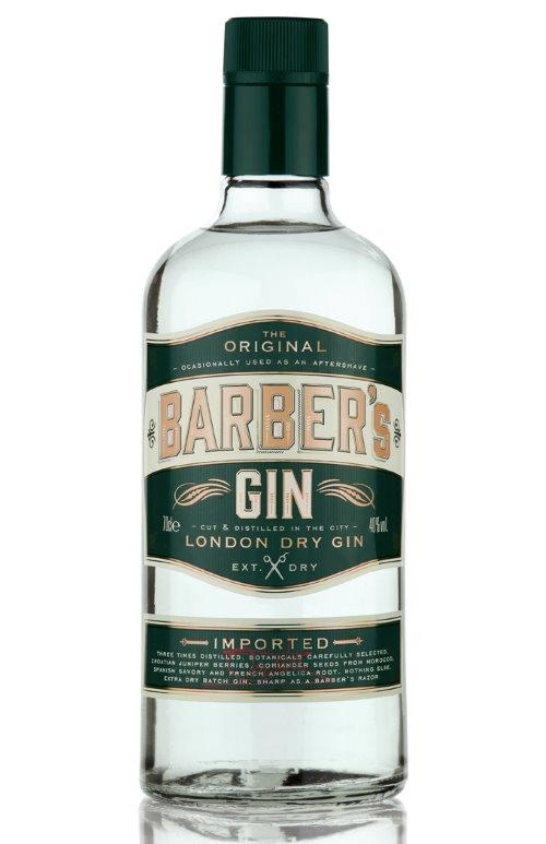 bottiglia di Barber's Gin London Dry