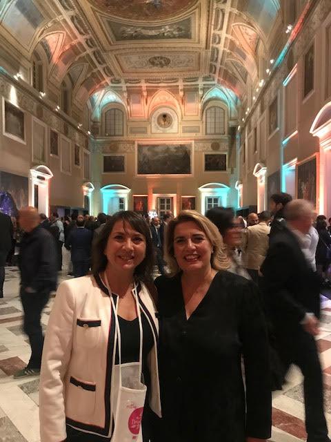 Carmen Guerriero con Serena Maggiulli, direttrice Città del Gusto Napoli