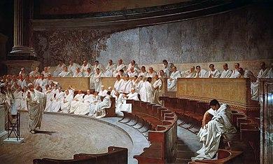 Ciceróne denuncia Catilina, Cesare_Maccari