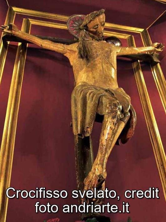 Crocifisso svelato, credit foto andriarte