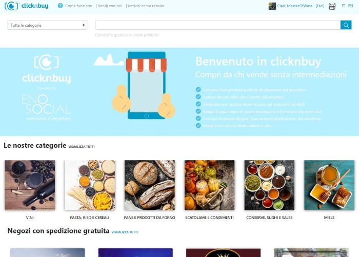 ecommerce di enosocial CLICKNBUY.NET