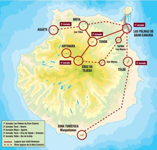 Percorso di Unamuno a Gran Canaria