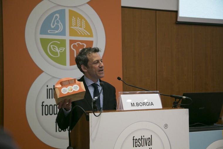 Massimiliano Borgia con la Food Bag