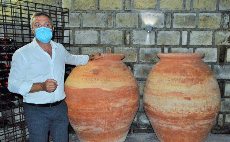 Massimo Setaro e le anfore vinarie