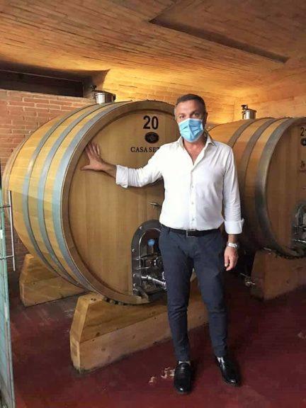 Massimo Setaro in bottaia