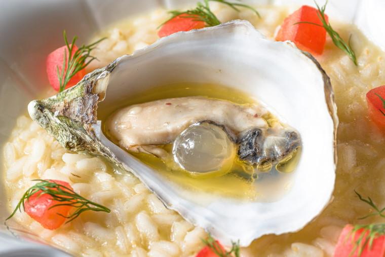 risotto ostriche