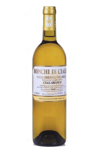 Ronchi di Cialla, Cialla bianco bottiglia