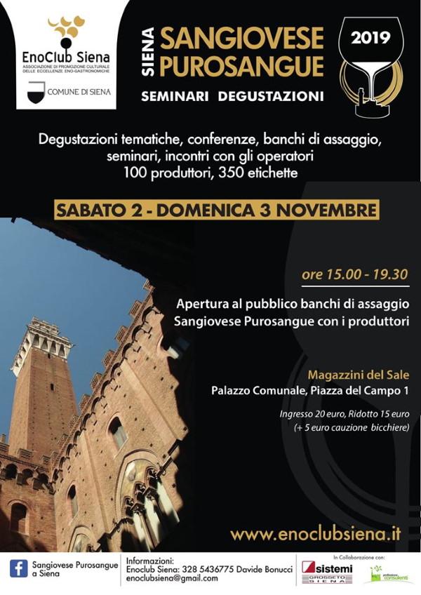 Siena Purosangue programma 2019