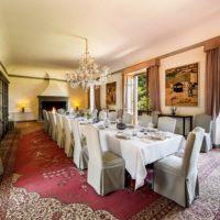 sala da pranzo della tenuta