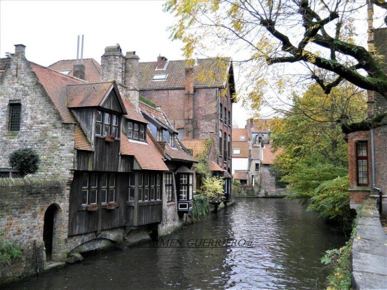 Bruges antiche case tradizionali in legno
