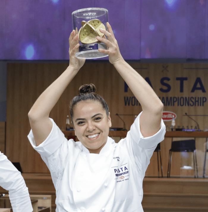Carolina Diaz vincitrice Barilla Pasta World Championship