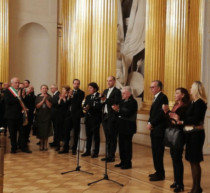 Cerimonia apertura mostra Piero della Francesca all'Ermitage