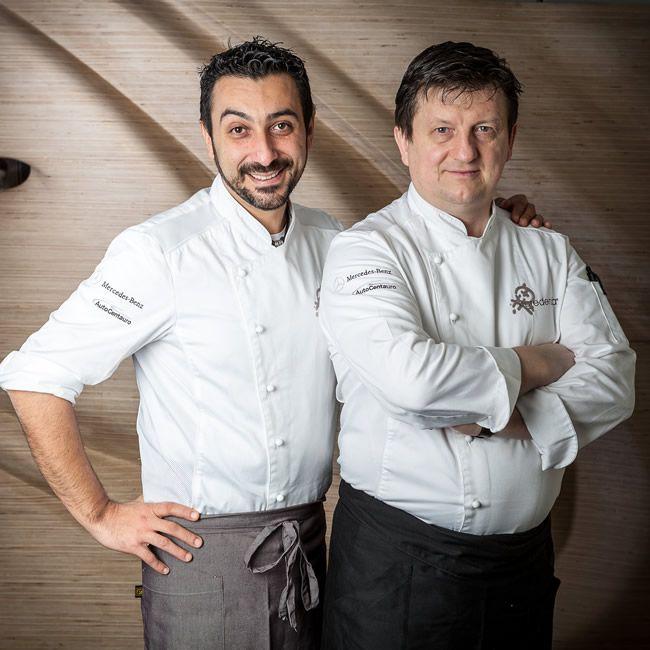 chef Igor Macchia e Giovanni Grasso (sala)