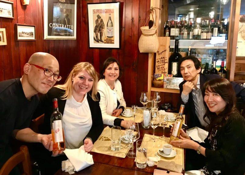 Tomonori Nunokami, Milena Pepe, Carmen Guerriero, Takashi Ito e Hiraku Horikawa