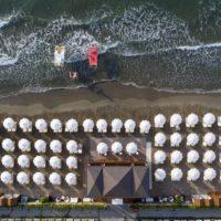 spiaggia privata del Grand Hotel Alassio da alto