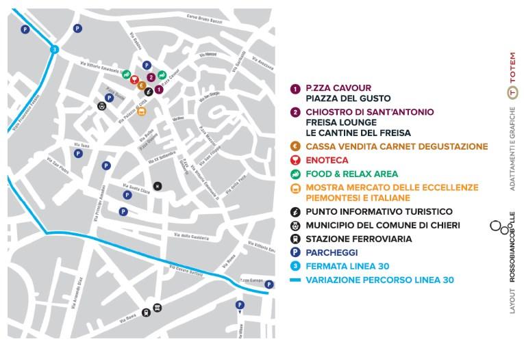 centro storico di Chieri, mappa evento
