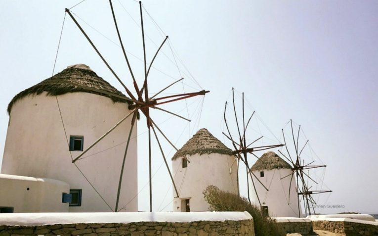 mulini di Mykonos, Cicladi, Grecia