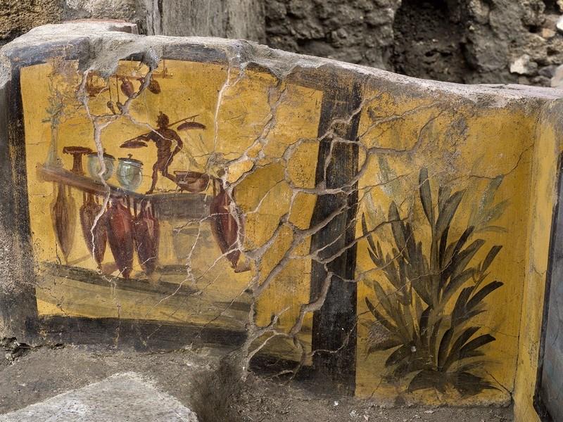 affresco al termopolio di Pompei