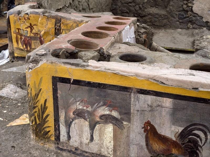 affresco particolare anatre germane Pompei