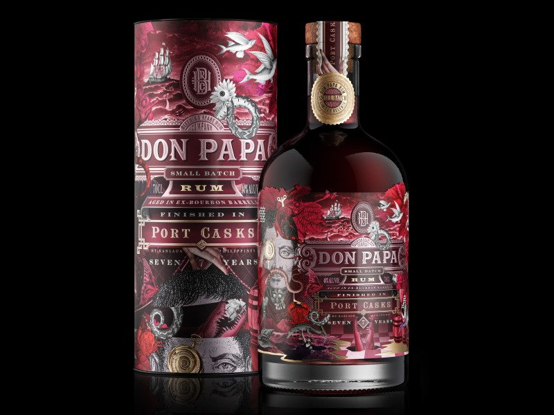 rum don papa port cask small batch 7 anni