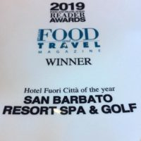 Hotel Fuori Città of the Year ai Food&Travel Italia 2019