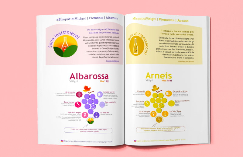 ebook di infografiche sui vitigni del Piemonte