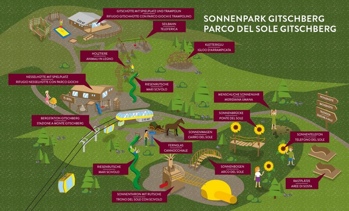 Sonnenpark parco del sole in Val Pusteria