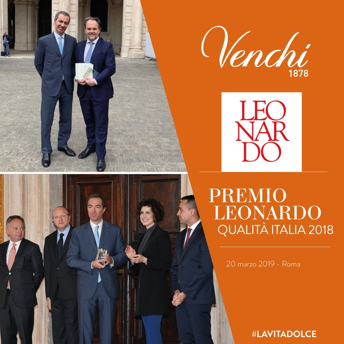 Venchi Premio Qualità Italia 2018