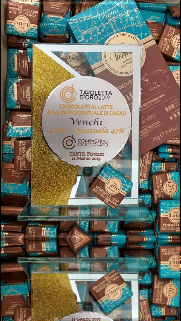 Venchi si aggiudica il premio Tavoletta d'Oro 2019