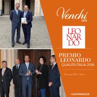 Venchi riceve il premio Qualità Italia 2018 dal Presidente della Repubblica Mattarella
