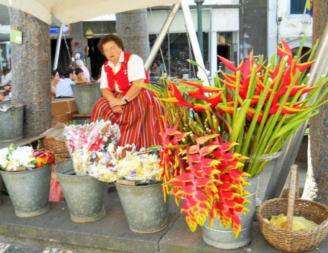 venditrice di fiori